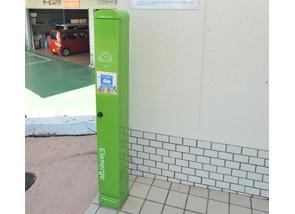 スズキオート泉南の電気自動車充電器スタンド設置風景